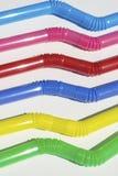Het plastic stro van Bended Stock Afbeeldingen