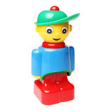 Het plastic stuk speelgoed van de blokmens Royalty-vrije Stock Afbeelding