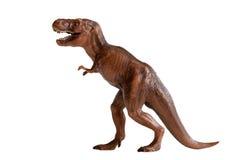 Het plastic stuk speelgoed van de tyrannosaurus rex dinosaurus stock afbeeldingen