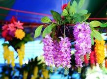 Het plastiek van de Beautyfulorchidee stock fotografie