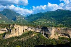 Het plateau DE Guillestre in de Franse alpen royalty-vrije stock foto