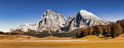 Het plateau van Seiseralm, toneellandschap stock foto