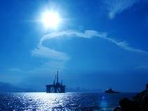 Het Platform van de olie   Stock Afbeeldingen