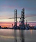 Het Platform van de olie Royalty-vrije Stock Afbeeldingen