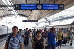 Het platform van de spoorweg Stock Afbeeldingen