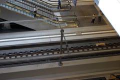 Het platform van de trein Stock Afbeeldingen