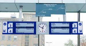 Het platform van de trein Royalty-vrije Stock Afbeeldingen