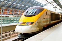 Het platform van Eurostar Stock Fotografie