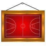 Het platform van het basketbal in een frame vector illustratie