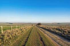 Het platteland van Berkshire in de winter Stock Foto's