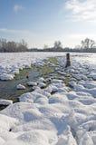 Het platteland van Berkshire in de winter Stock Afbeelding