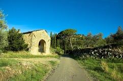 Het platteland van Cortona Stock Fotografie