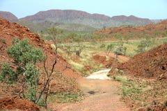 Het platteland van de droogte Stock Foto