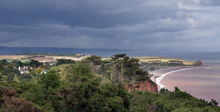 Het platteland van de kust in Engeland Royalty-vrije Stock Foto's