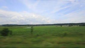 Het Platteland van de passagierstrein stock footage