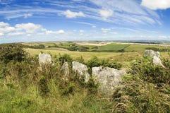Het platteland van Devon Stock Foto's