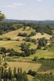 Het platteland van Dordogne stock afbeelding