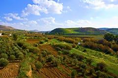 Het platteland van Jordanië Royalty-vrije Stock Afbeeldingen