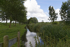 Het platteland van Nederland royalty-vrije stock afbeeldingen
