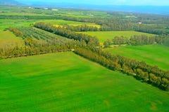 Het platteland van Sardinige hierboven wordt gezien die van royalty-vrije stock afbeelding
