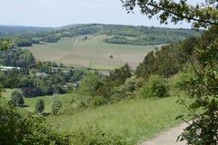 Het platteland van Surrey dichtbij Dorking engeland Stock Foto