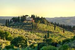 Het platteland van Toscanië Royalty-vrije Stock Afbeeldingen