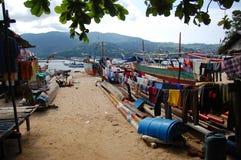 Het plattelandsgebied van Indonesië bij dorp Royalty-vrije Stock Afbeeldingen