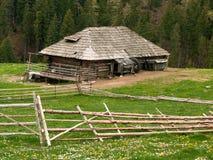 Het plattelandshuisje van de herder Stock Afbeeldingen
