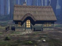 Het Plattelandshuisje van Fairytale Stock Fotografie
