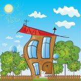 Het plattelandshuisje van Fairytale Royalty-vrije Stock Afbeelding