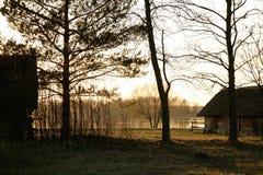 Het plattelandshuisje van het meer Royalty-vrije Stock Fotografie