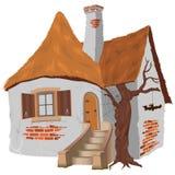 Het Plattelandshuisje van het sprookje stock illustratie