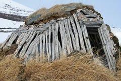 Het plattelandshuisje van Sami royalty-vrije stock afbeelding