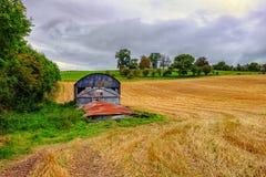 Het plattelandslandschap Engeland van Shropshire stock afbeelding