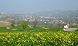 Het plattelandslandschap van de lente Royalty-vrije Stock Afbeelding