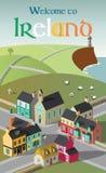 Het plattelandslandschap van Ierland royalty-vrije illustratie