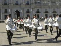 Het plechtige veranderen van de wacht in Palacio DE La Moneda Stock Foto
