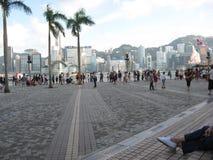 Het plein dichtbij het culturele centrum van Hong Kong, Tsim Sha Tsui stock afbeelding