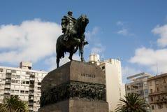Het Plein Independencia van MONTEVIDEO, URUGUAY Royalty-vrije Stock Foto's