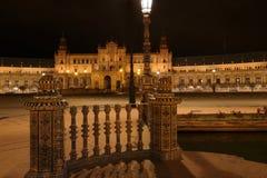 Het plein Spanje Maria luise park Sevilla Stock Afbeeldingen