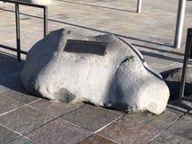 Het Plein van de Japantownvrede; een andere herdenkingsrots stock fotografie
