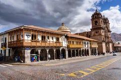 Het plein van de straatscène in Cusco Peru Royalty-vrije Stock Afbeelding