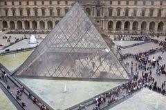 Het Plein van het Museum van het Louvre Royalty-vrije Stock Afbeeldingen