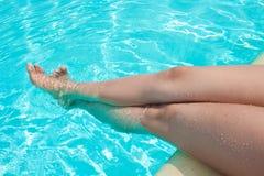 Het plezier van de pool Stock Fotografie