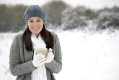 Het plezier van de winter Stock Afbeelding