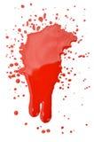Het ploeteren van bloed Stock Afbeeldingen