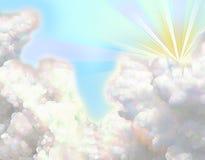 Het pluizige wolk schilderen Stock Foto's
