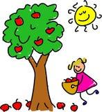 Het plukken appelen Stock Afbeelding