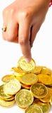 Het plukken van het muntstuk royalty-vrije stock foto
