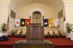 Het podium van de kerk Stock Fotografie